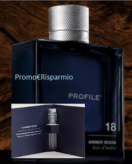 Logo Campione omaggio profumo Profile 18 Amber Wood
