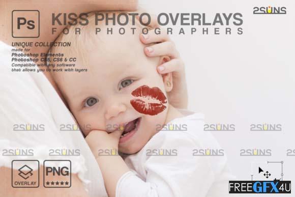 20 Kiss Photoshop Overlays