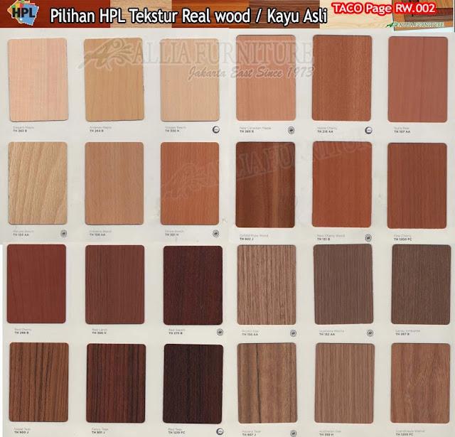 RW.02 HPL Taco motif tekstur kayu asli