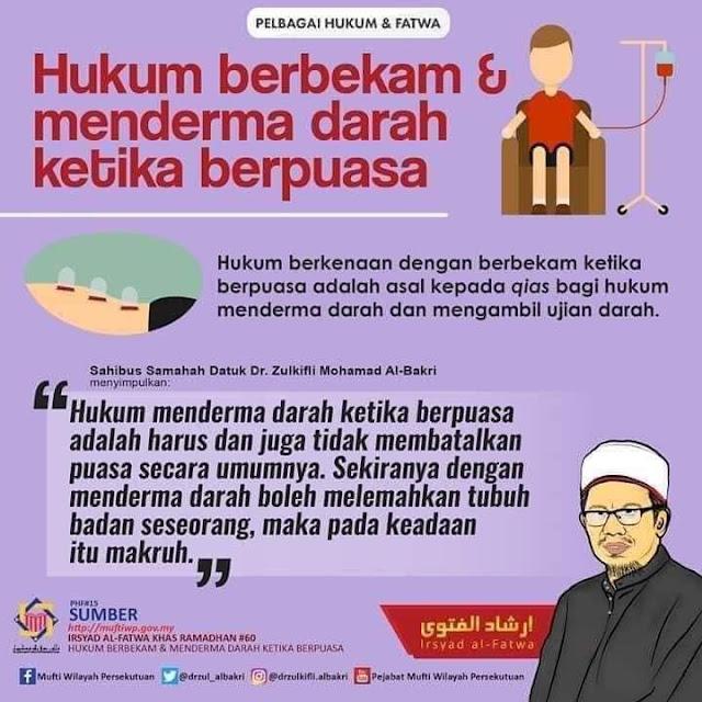 adakah batal puasa sekiranya berbekam atau menderma darah di bulan Ramadan