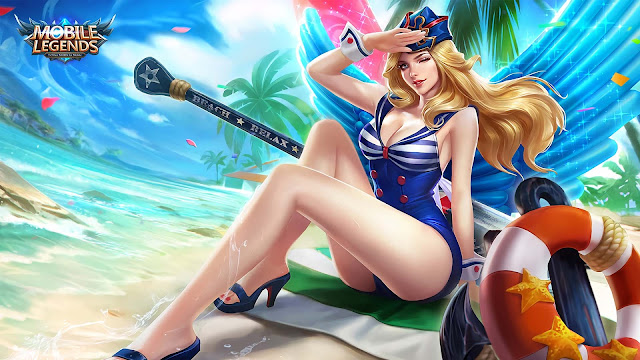 Wallpaper Skin Special Freya - Beach Sweetheart
