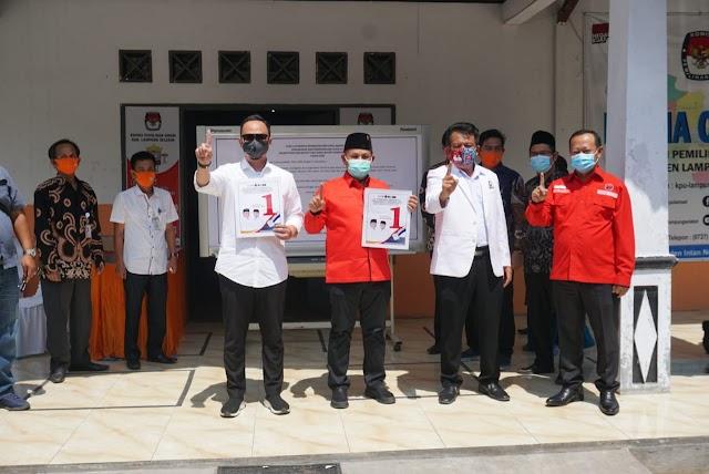 KPU Kab. Lamsel Gelar Rapat Pleno Penetapan Nomor Urut Pasangan Calon Bupati dan Wakil Bupati Lamsel