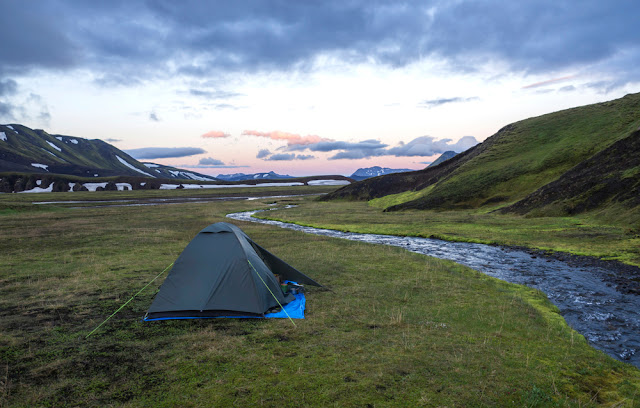 Most campsites in Iceland are so large, you feel like you're wild camping