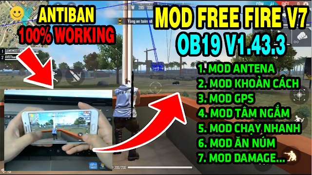 Update Mega Mod Free Fire 1.43.3 OB19 (APK & OBB) AntiBan 100% No Root Latest Download Version