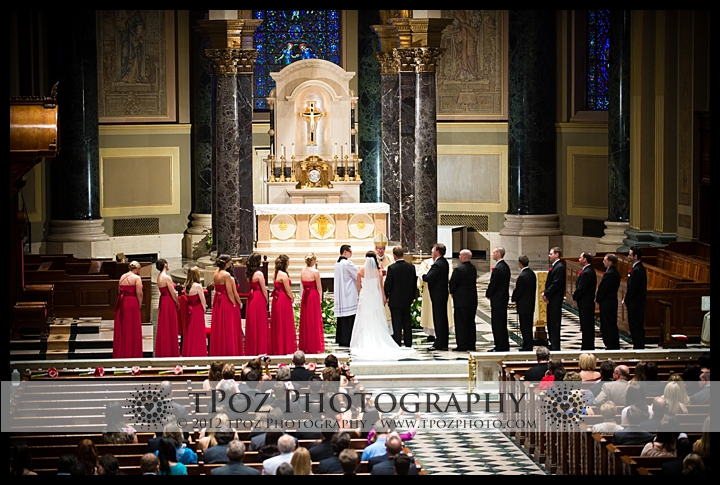 Cathedral Basilica of Saints Peter & Paul wedding ceremony