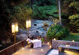 A Restaurant The Ayung River in Ubud, The Samaya
