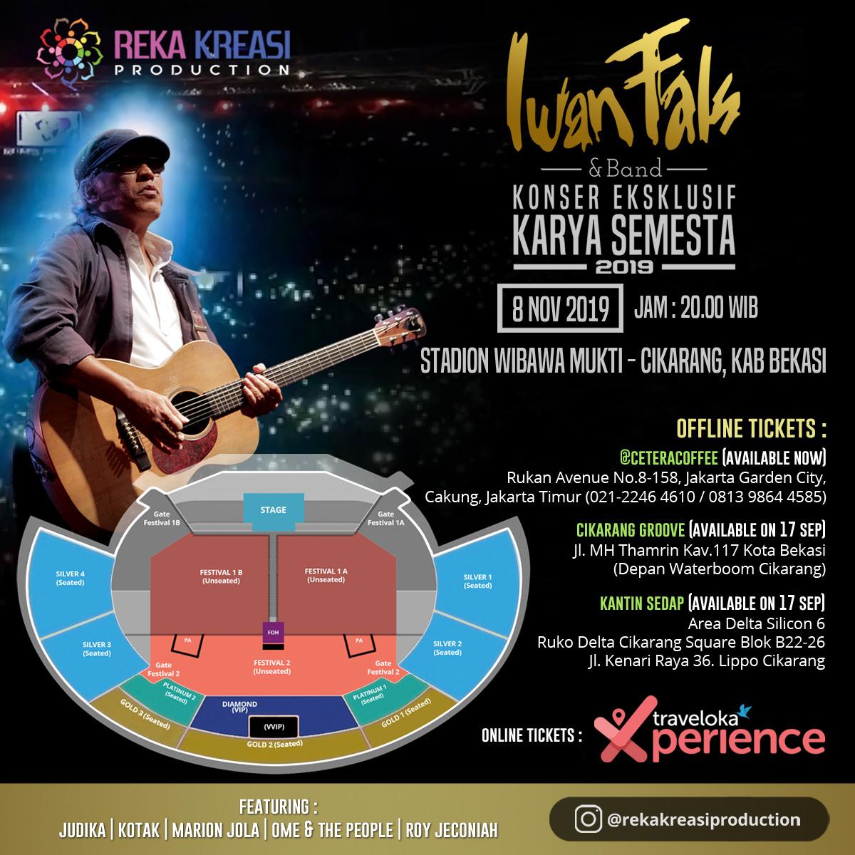 Konser Iwan Fals Cikarang: Ini Harga Tiketnya