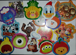 Free stickers you can get at Hong Kong Disneyland