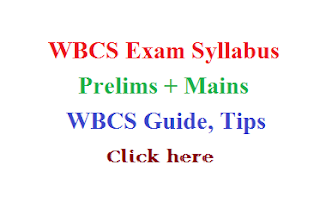 WBCS syllabus, syllabus for WBCS exam