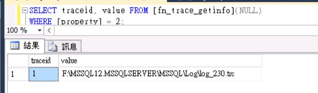 default trace