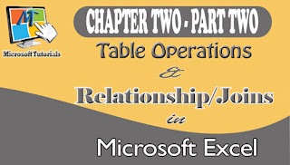 table operations and relationships/joins (chapter 2: part 2) introduction