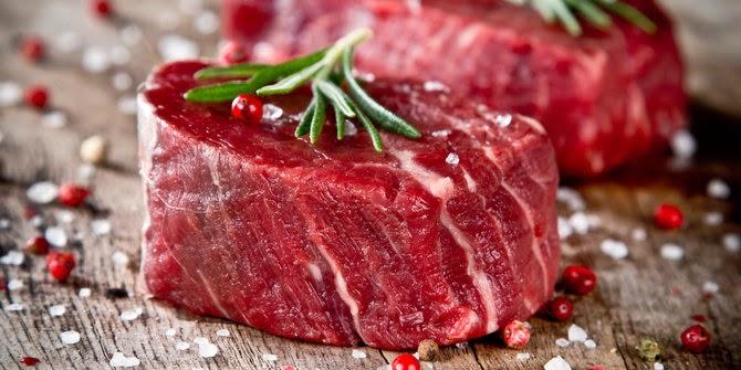 Daging merah ialah sumber protein dan zat besi yang baik 3 Cara Sehat Memasak Daging Merah