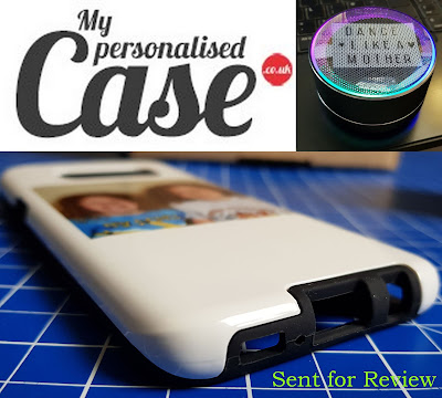 Personalised Tough Phone Case and Personalised Bluetooth Speaker plus company logo