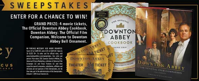 Books A Million wants all of the Downton Abbey fans to enter one time for their chance to score an awesome prize package of books, movies and more!