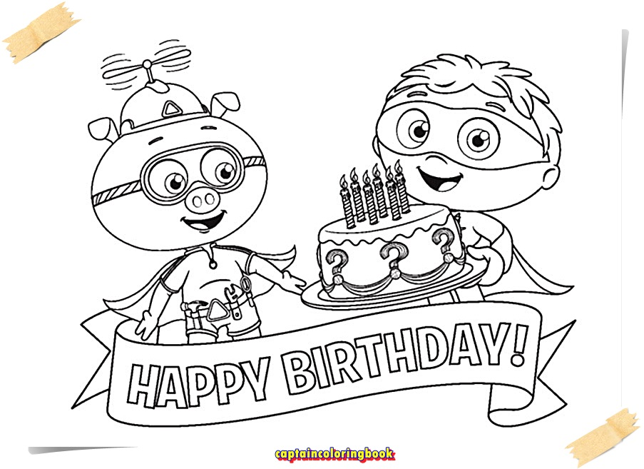 Super Why Coloring Pages download - Coloring Page