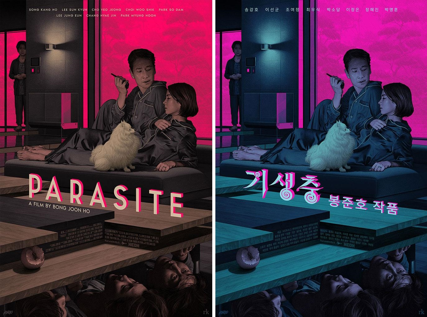 The Blot Says...: Parasite Screen Print by Rory Kurtz x Mondo