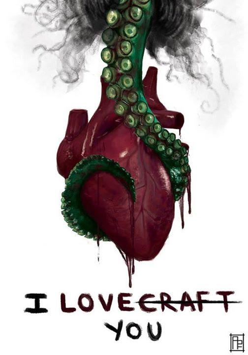 Meme de humor sobre Lovecraft y el amor