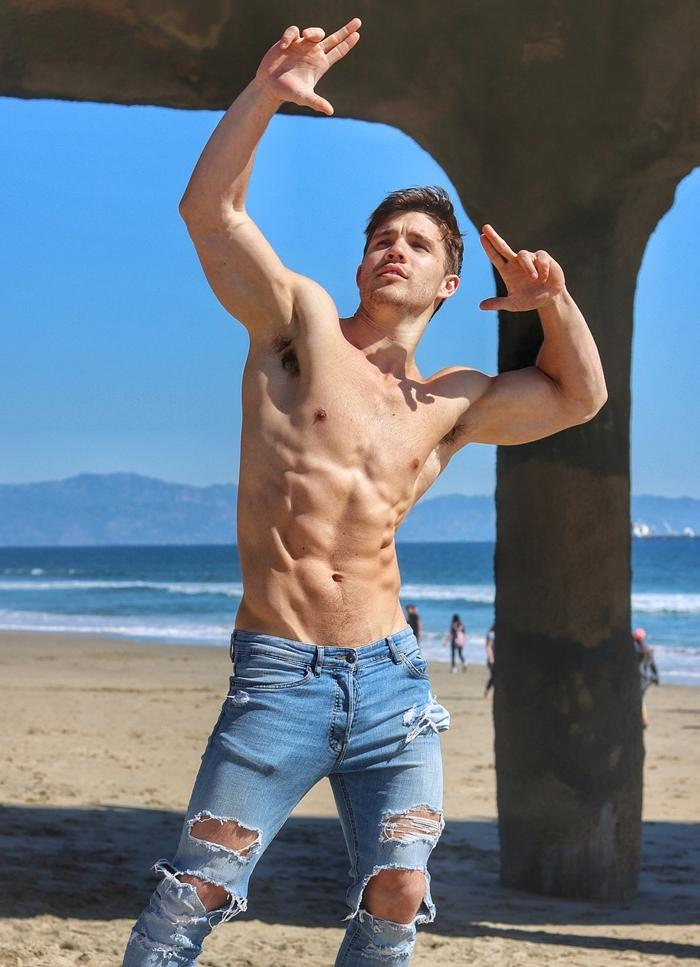 sexy-shirtless-slim-toned-muscle-dudes-posing-striking-pose-flexing-ripped-jeans