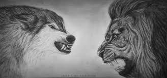 भेड़िया और शेर की कहानी
