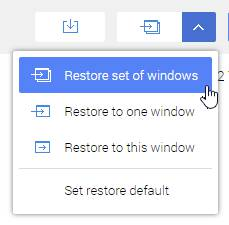 restore sesi ke pilihan window