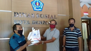 Hiswana Migas Bali dan Pertamina Beri Bantuan Sembako dan Face Shield