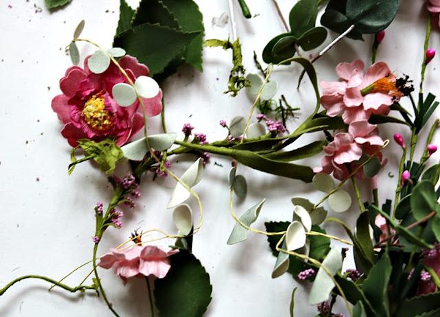 home, garden, decor, wreath, cottage, feminine, floral, pink, grapevine, athomewithjemma.com