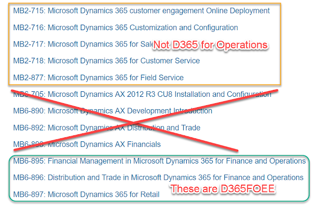 Dynamics 365 财务和运营 认证考试 / Dynamics 365 for Finance and Operations Certification Exams