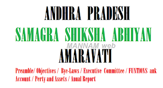 ANDHRA  PRADESH  SAMAGRA  SHIKSHA  ABHIYAN,   AMARAVATI  Memorandum of Association/ Preamble/ Objectives/  Bye-Laws/Executive  Committee/FUNCTIONS/Bank Account/Property and Assets/Annual Report