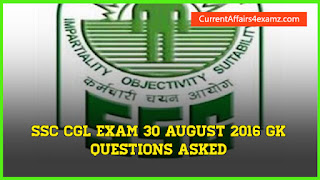 SSC CGL Questions 30 August 2016