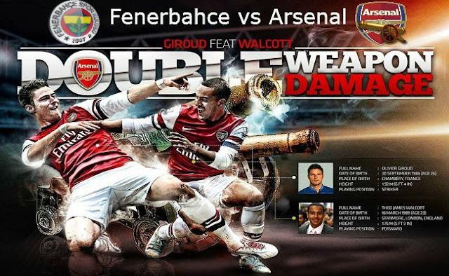 Prediksi Skor Line Up Fenerbahce Vs Arsenal Play F Liga Champions