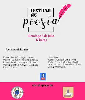 Afiche Festival Internacional de Poesía Chimaltenango