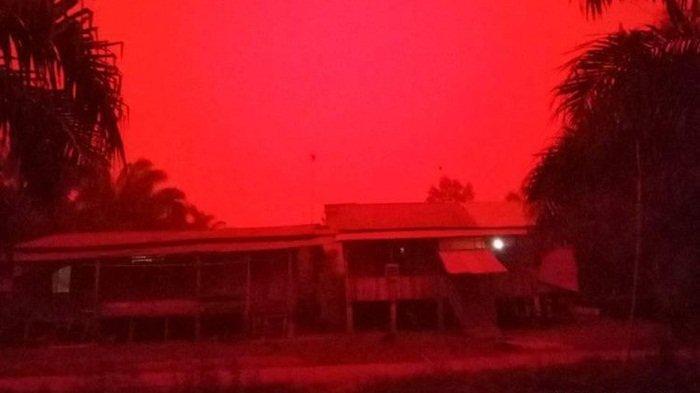 Langit Merah Rayleigh Selimuti Kota Jambi