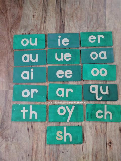 DIY Montessori Sandpaper Phonograms I Made