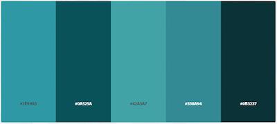 Pattern Warna Cat Rumah Biru Tosca