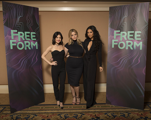 PLL Lucy Hale, Sasha Pieterse & Shay Mitchell at TCA Winter Press Tour 2017