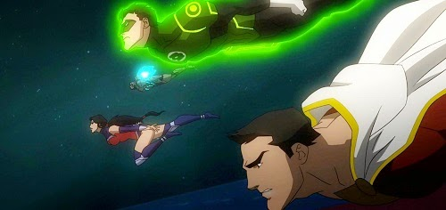 Shazam Wonder Woman Green Lantern Cyborg in Justice League War DC Universe Animated Original Movie 2014