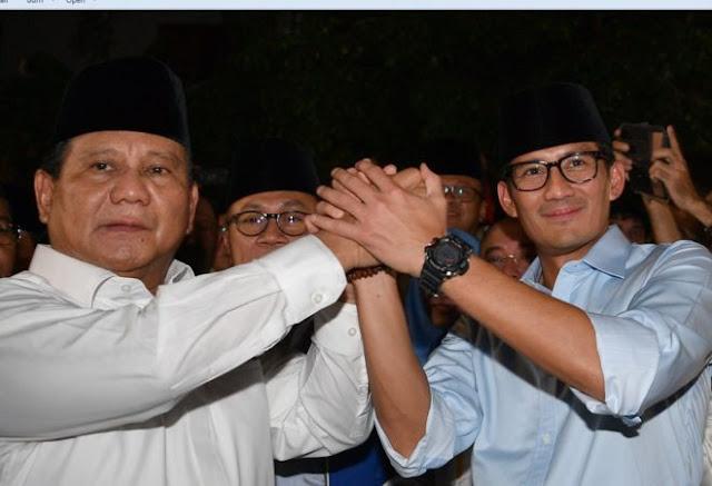 BREAKING NEWS! Prabowo tunjuk Sandiaga Uno sebagai cawapres