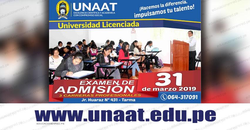 Resultados UNAAT 2019 (Domingo 31 Marzo) Lista de Ingresantes al Examen de Admisión - Universidad Nacional Autónoma Altoandina de Tarma - www.unaat.edu.pe