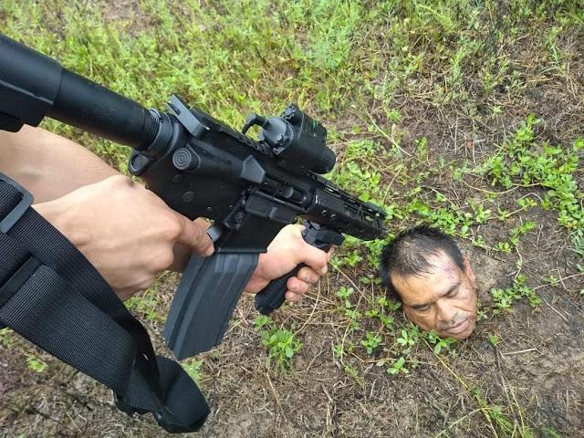 Dejan amenaza bajo un balde; dentro del contenedor había una cabeza en Tamiahua