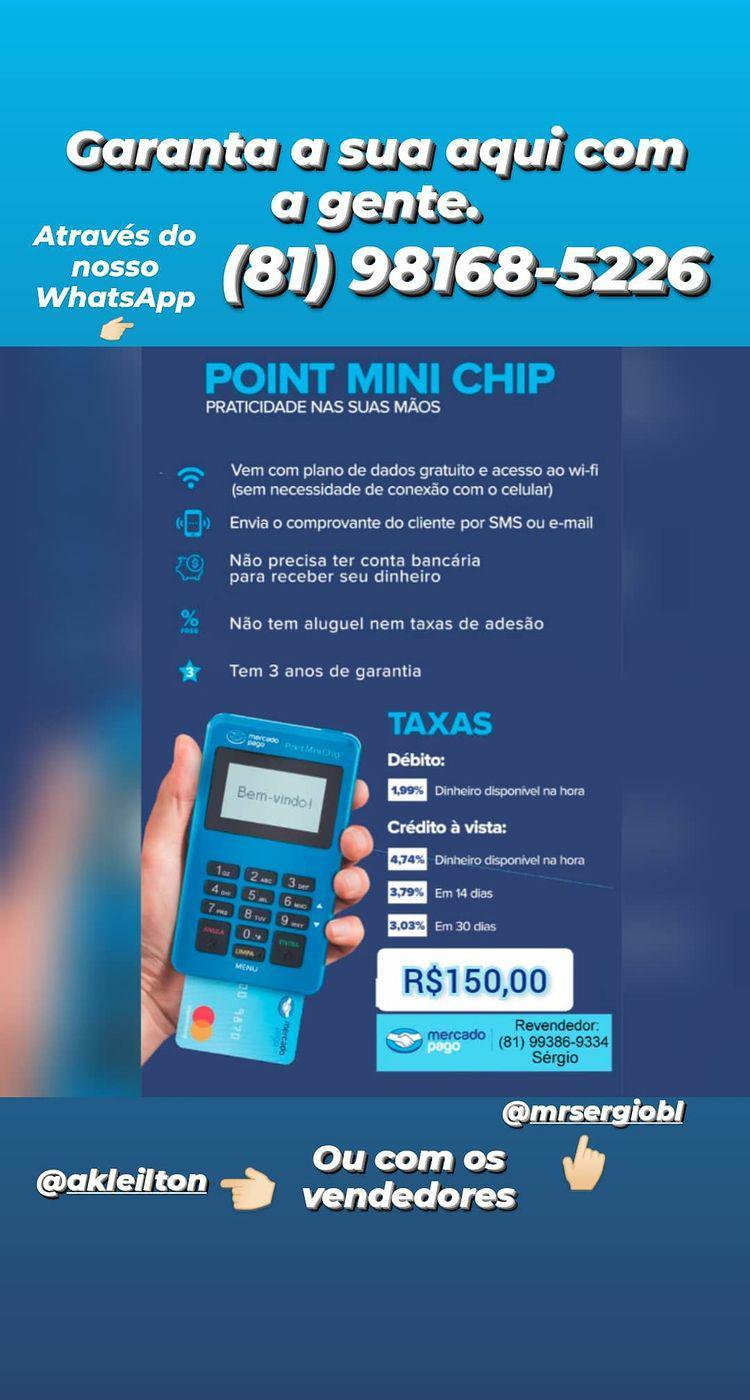 Maquininha Point Mini Chip (Mercado Pago)
