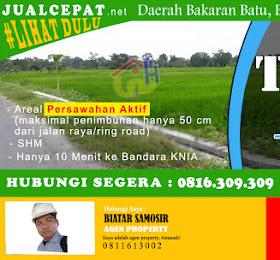 dijual tanah (sawah aktif) di daerah Bakaran Batu Batang Kuis, lubuk pakam  <del>Rp 1.400.000,-</del> <price>Rp 1.300.000.000,-</price> <code>MH12</code>