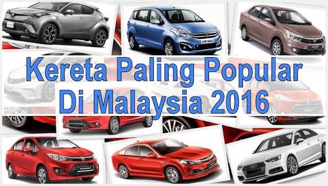 10 Model Kereta Paling Popular Di Malaysia 2016