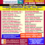 SAUDI JOBS : REQUIRED FOR A ARAMCO PROECT IN SAUDI .g
