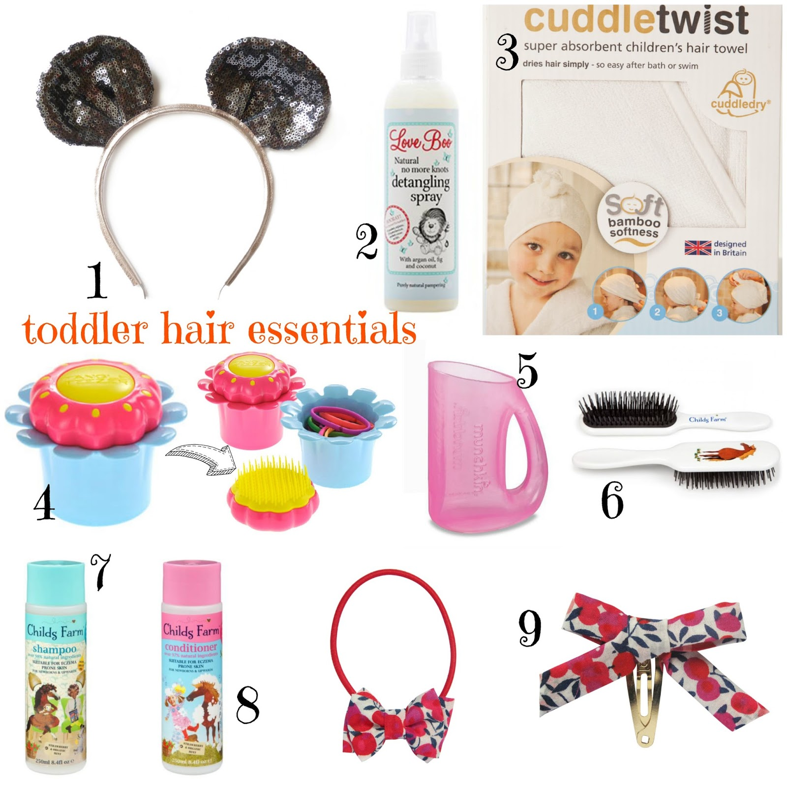 V. I. BASH: Hair, nails & a girly day out with Childs Farm… plus our fave toddler good hair essentials!   mamasVIB   childs farm   hair styles for kids   toddler hair essentials   top 9 essential for kids hair   detangling brushes  shampoo and detangled for kids   magic flower pot hair brush   tangle teezer for ids   munckin shampoo rinser   liberty of london hair clips   woodstock london sparkly mouse ears   knnie mouse style headband   woodstock accessories   cuddle dry   cuddle twist   hair tips for kids   hair towel for kids   super absorbent towel for hair   neveill hair and beauty   hair salon   superdrug   beauty [produsts  blogger   stlist   halo braid   hair plaits   kids hair  giveaway   kids beauty competitions   mamasVIb   bonita turner   win