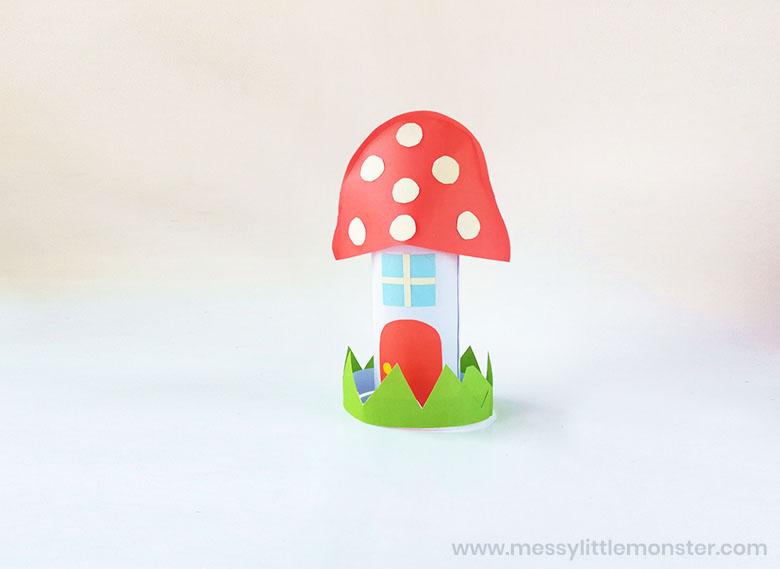 fairy garden houses paper craft