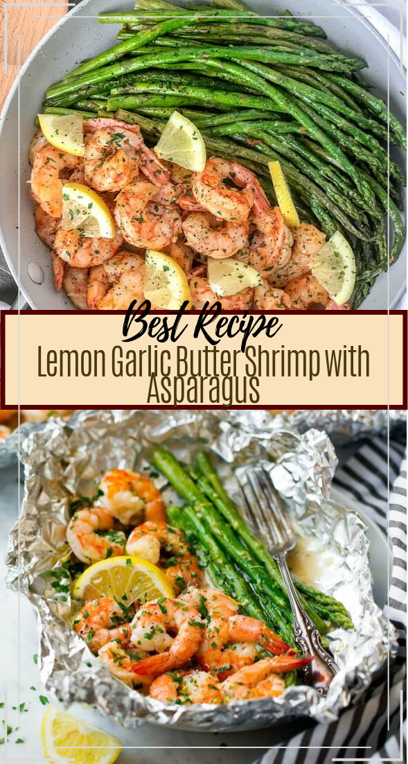 Lemon Garlic Butter Shrimp with Asparagus #dinnerrecipe #food #amazingrecipe #easyrecipe