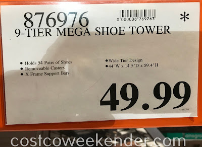 Deal for the Neatfreak 9-tier Mega Shoe Tower at Costco