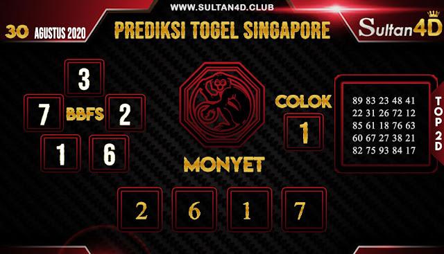 PREDIKSI TOGEL SINGAPORE SULTAN4D 30 AGUSTUS 2020