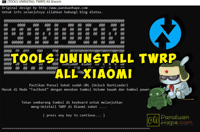 Tools Uninstall TWRP All Xiaomi