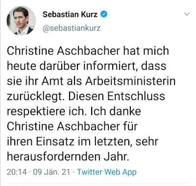 أول,وزيرة,تستقيل,من,الحكومة,النمساوية,الحالية